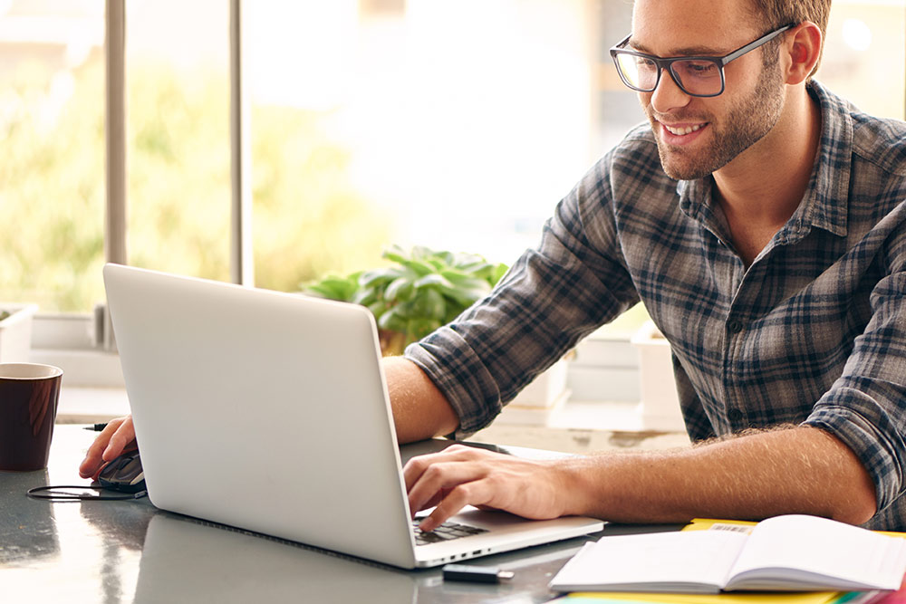 Salt Manage WordPress Website Management man on computer